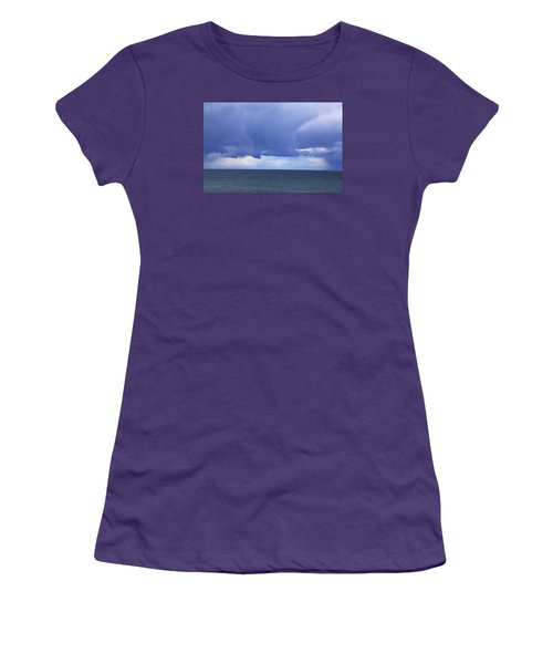 Women's T-Shirt (Athletic Fit) featuring the photograph Cloud Curtain by Nareeta Martin