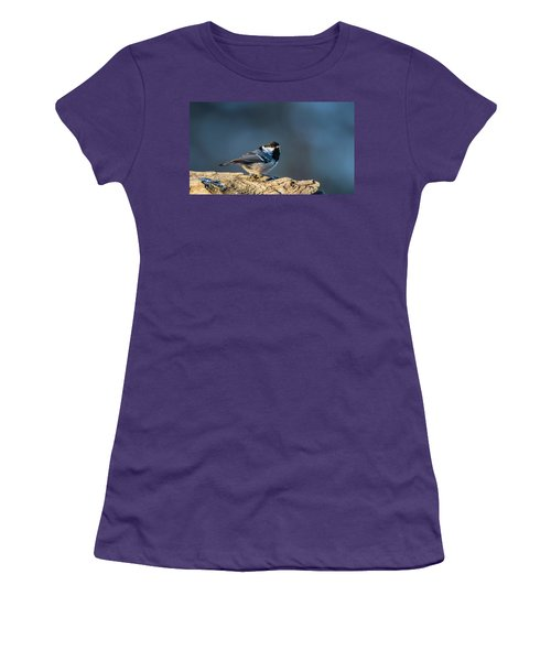 Women's T-Shirt (Junior Cut) featuring the photograph Coal Tit's Colors by Torbjorn Swenelius