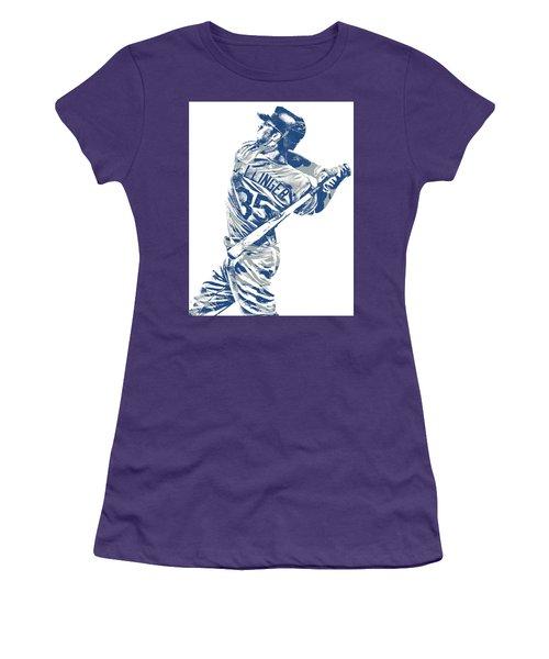 Cody Bellinger Los Angeles Dodgers Pixel Art 10 Women's T-Shirt (Athletic Fit)