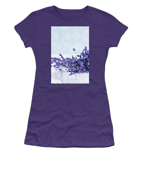 Women's T-Shirt (Junior Cut) featuring the photograph Collection Of Lavender  by Stephanie Frey