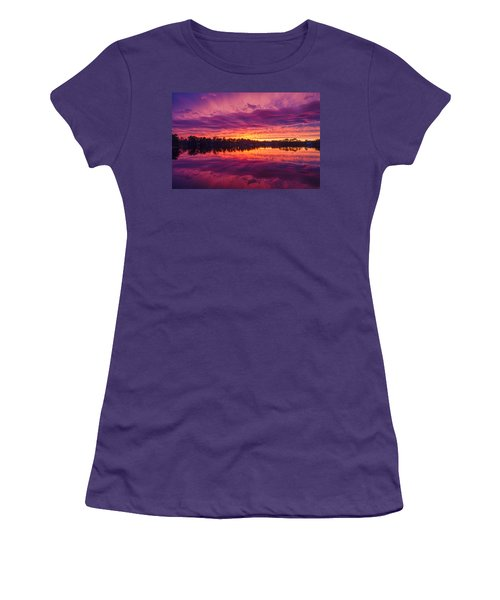 Color Explosion Sunset Women's T-Shirt (Athletic Fit)