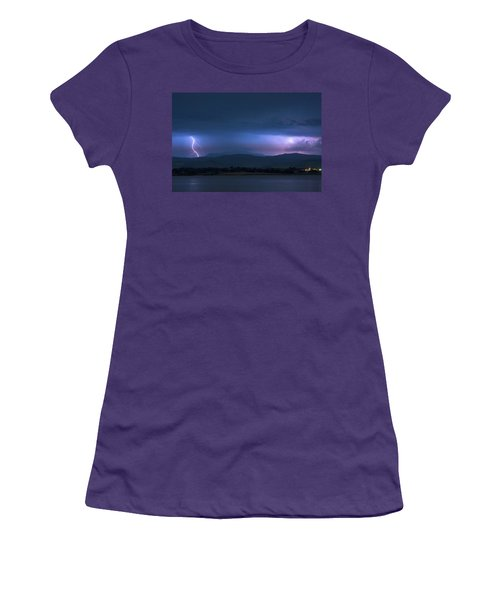 Women's T-Shirt (Junior Cut) featuring the photograph Colorado Rocky Mountain Foothills Storm by James BO Insogna