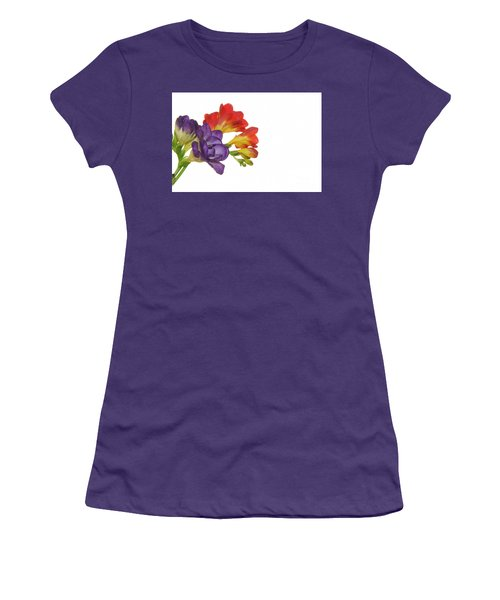 Colorful Freesias Women's T-Shirt (Athletic Fit)