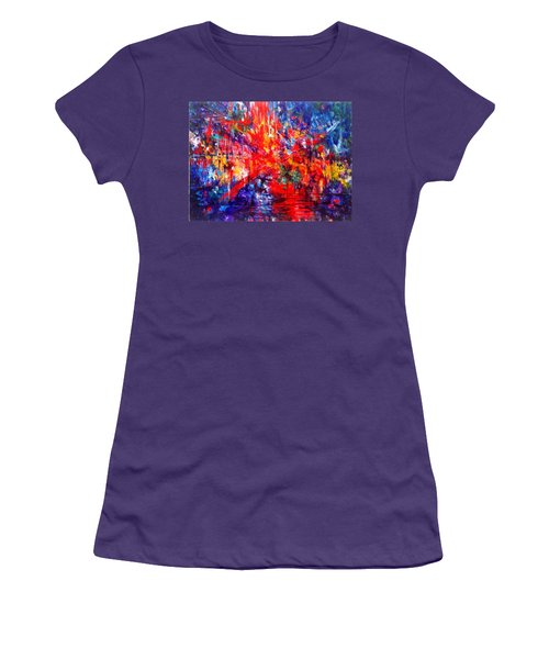 Composition # 1. Series Abstract Sunsets Women's T-Shirt (Athletic Fit)