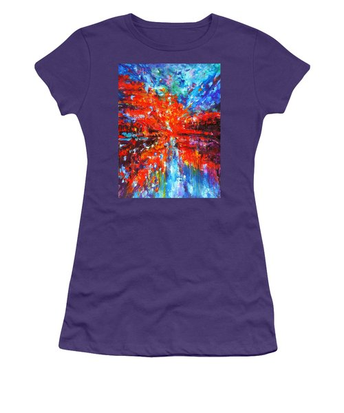 Composition # 2. Series Abstract Sunsets Women's T-Shirt (Athletic Fit)
