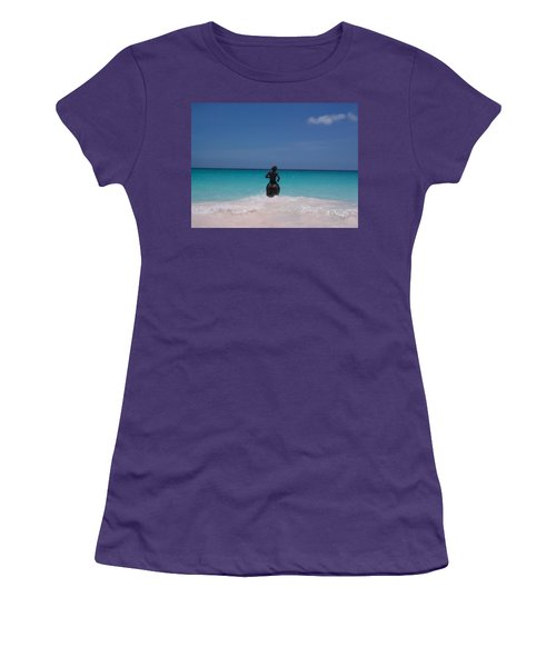 Women's T-Shirt (Junior Cut) featuring the photograph Cool Off Man by Mary-Lee Sanders