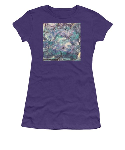 Cosmic Abstract Women's T-Shirt (Athletic Fit)