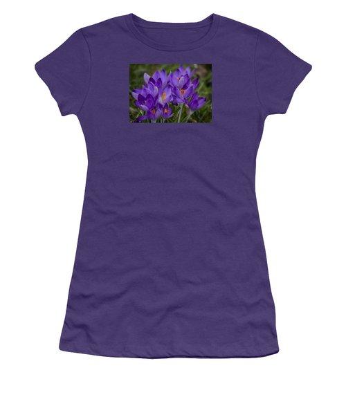 Crocus Cluster Women's T-Shirt (Junior Cut) by Shirley Mitchell