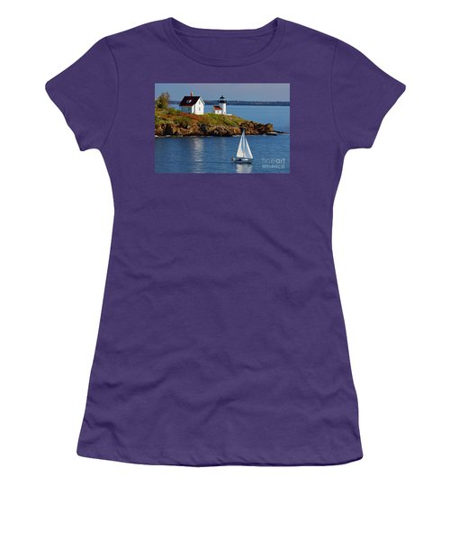 Curtis Island Lighthouse - D002652b Women's T-Shirt (Athletic Fit)
