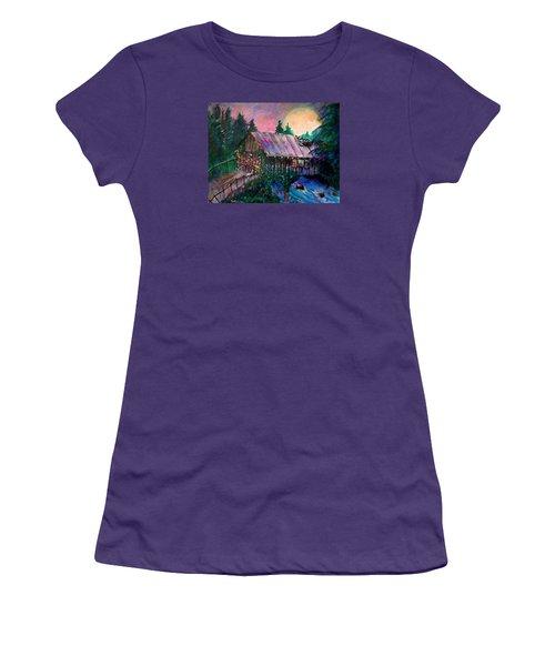 Dangerous Bridge Women's T-Shirt (Junior Cut) by Seth Weaver