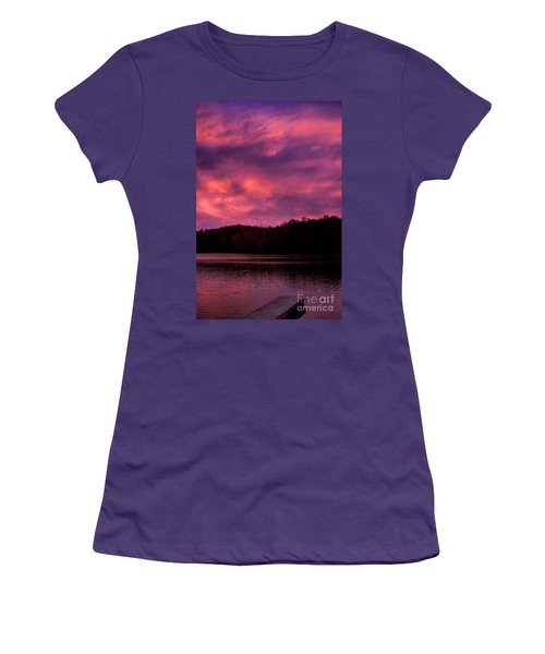 Women's T-Shirt (Junior Cut) featuring the photograph Dawn At The Dock by Thomas R Fletcher