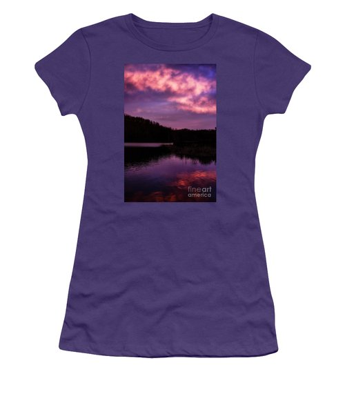Women's T-Shirt (Junior Cut) featuring the photograph Dawn Big Ditch Wildlife Management Area by Thomas R Fletcher