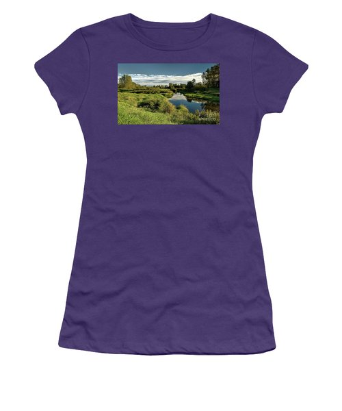 De Boville Slough At Pitt River Dike Women's T-Shirt (Athletic Fit)