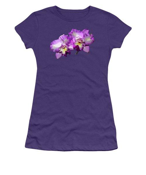 Delicate Purple Orchids Women's T-Shirt (Junior Cut) by Phyllis Denton