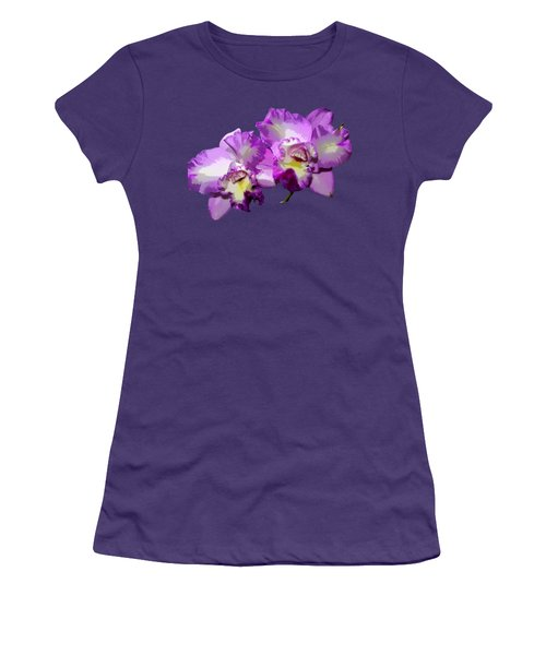 Delicate Purple Orchids Women's T-Shirt (Athletic Fit)