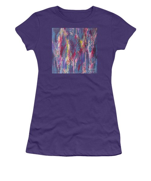 Women's T-Shirt (Junior Cut) featuring the painting Delve Deep 2 by Mini Arora