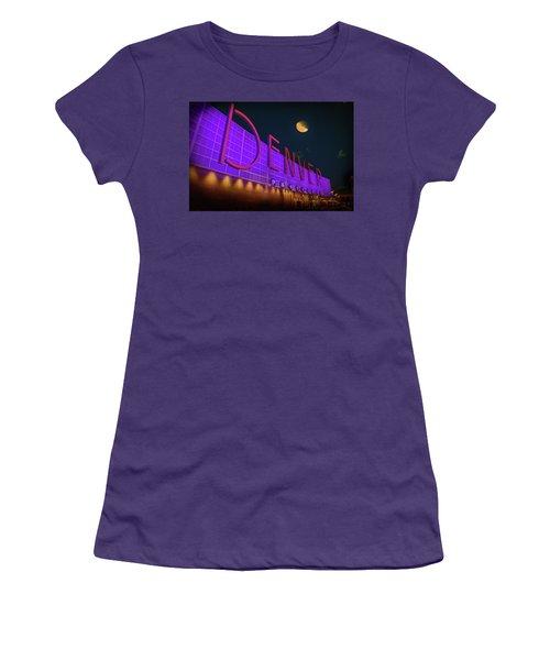 Denver Pavilion At Night Women's T-Shirt (Junior Cut) by Kristal Kraft