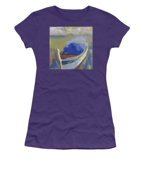 Women's T-Shirt (Junior Cut) featuring the painting Derek's Boat. by Julie Todd-Cundiff