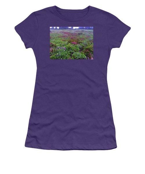 Dickerman Floral Meadow Women's T-Shirt (Athletic Fit)