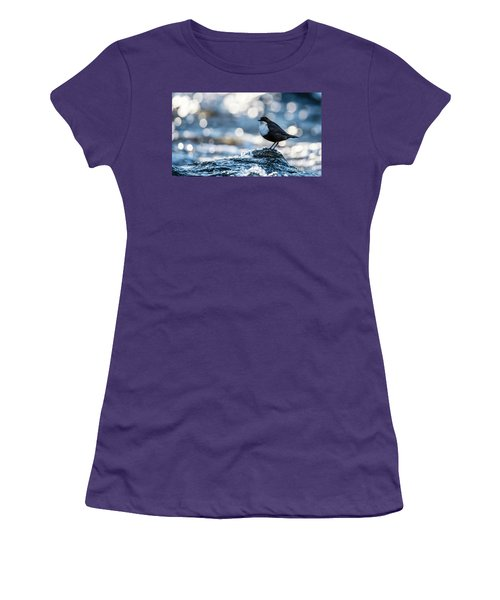 Women's T-Shirt (Junior Cut) featuring the photograph Dipper On Ice by Torbjorn Swenelius