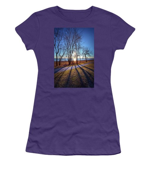 Women's T-Shirt (Junior Cut) featuring the photograph Down This Way We Meander by Phil Koch