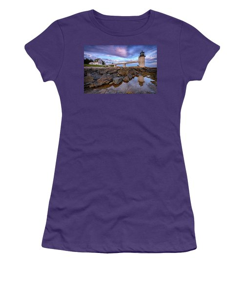 Women's T-Shirt (Athletic Fit) featuring the photograph Dusk At Marshall Point by Rick Berk