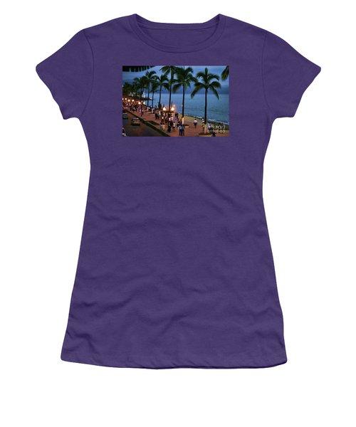 Evenings On The Malecon Women's T-Shirt (Junior Cut) by Chuck Kuhn