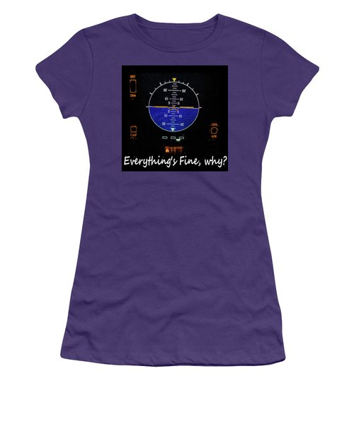 Everything Is Fine Women's T-Shirt (Junior Cut) by JC Findley