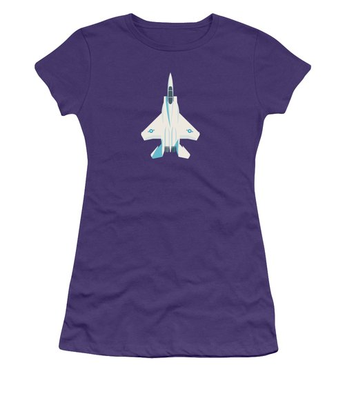 F15 Eagle Fighter Jet Aircraft - Slate Women's T-Shirt (Athletic Fit)