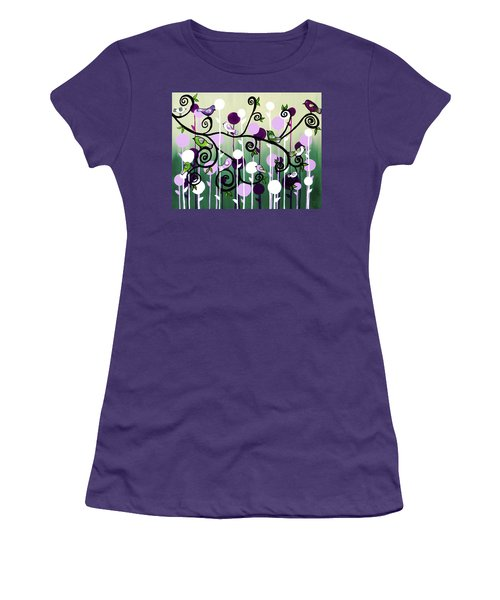 Women's T-Shirt (Junior Cut) featuring the painting Family Tree by Teresa Wing