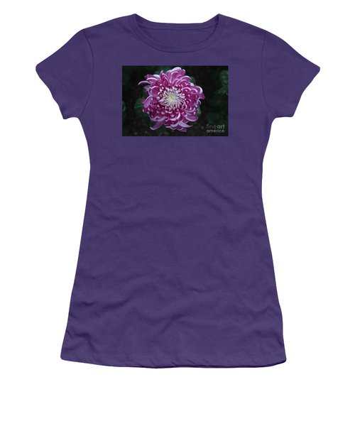 Fancy Chrysanthemum In Pink Women's T-Shirt (Athletic Fit)