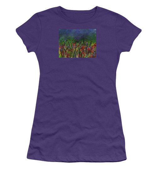 Field Of Flowers Women's T-Shirt (Athletic Fit)