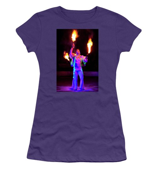 Fire Juggler Women's T-Shirt (Athletic Fit)