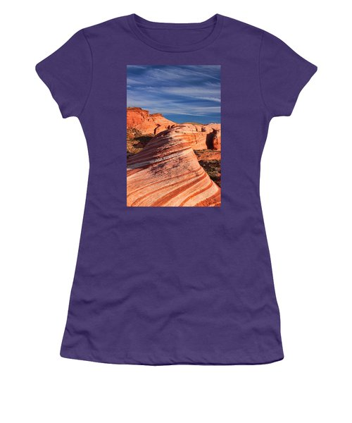 Fire Wave Women's T-Shirt (Junior Cut) by Tammy Espino