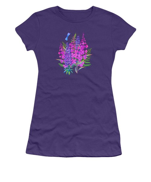 Fireweed And Lupine T Shirt Design Women's T-Shirt (Athletic Fit)