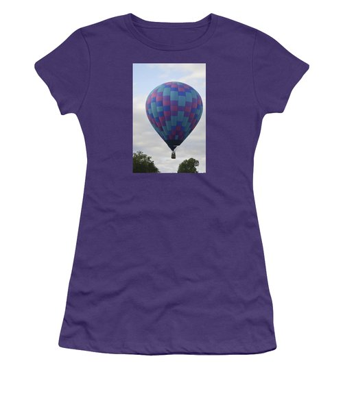 First To Take Off For The Atlantic Women's T-Shirt (Junior Cut) by Linda Geiger