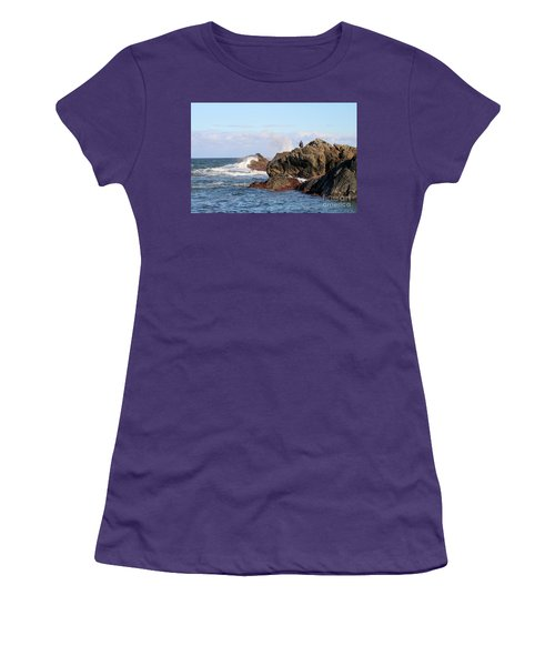 Women's T-Shirt (Athletic Fit) featuring the photograph Fishing by Linda Lees