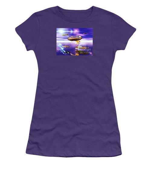Fleet Dense Women's T-Shirt (Junior Cut) by Jacqueline Lloyd