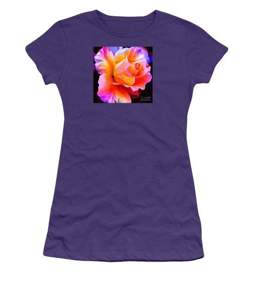 Floral Interior Design Thick Paint Women's T-Shirt (Junior Cut) by Catherine Lott