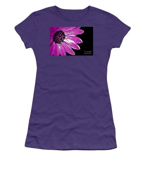 Women's T-Shirt (Junior Cut) featuring the photograph Flower Power  by Juls Adams