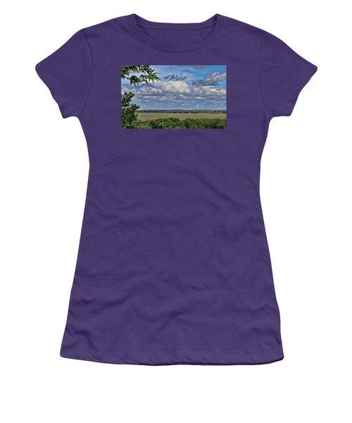 For Spacious Skies Women's T-Shirt (Junior Cut) by Sylvia Thornton