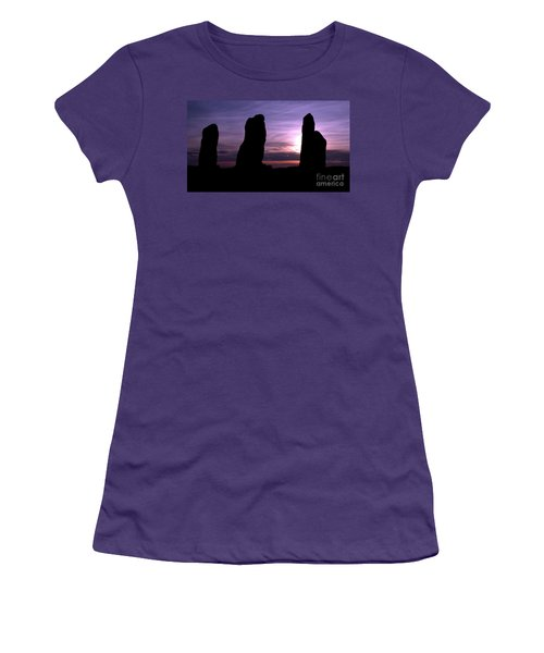 Women's T-Shirt (Junior Cut) featuring the photograph Four Stones Folly Clent Hills by Stephen Melia