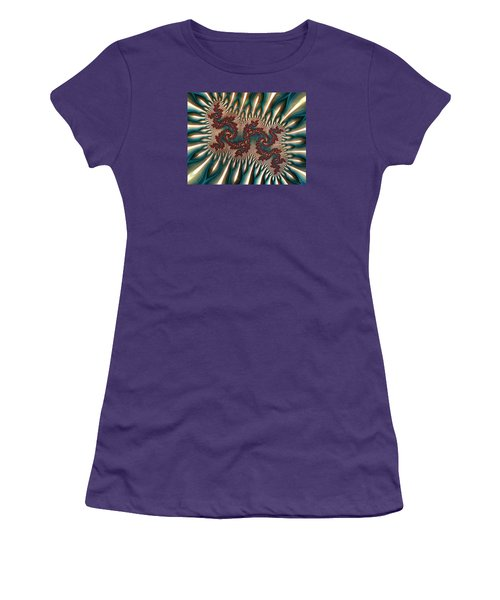 Fractal Landscape V Women's T-Shirt (Athletic Fit)