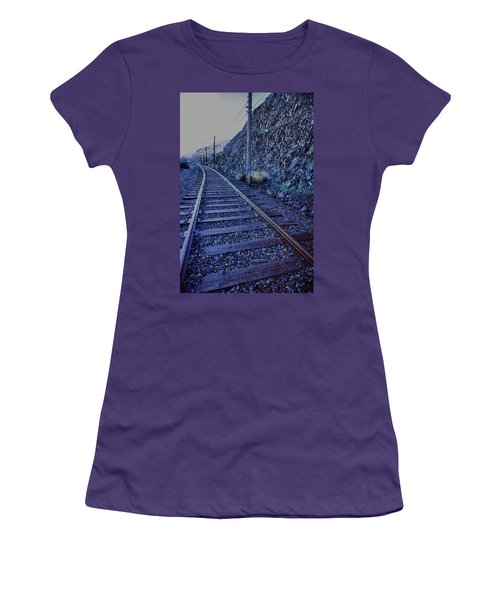 Women's T-Shirt (Junior Cut) featuring the photograph Gently Winding Tracks by Jeff Swan