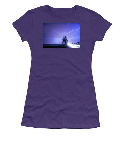 Women's T-Shirt (Junior Cut) featuring the photograph Ghost Rider by James BO Insogna