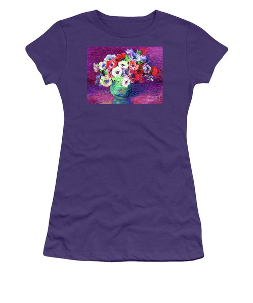 Gift Of Anemones Women's T-Shirt (Junior Cut) by Jane Small
