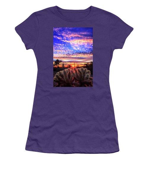 Glimmering Skies Women's T-Shirt (Junior Cut) by Rick Furmanek