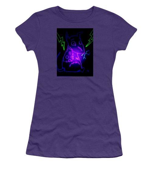 Glow Frankenweenie Sparky Women's T-Shirt (Junior Cut) by Marisela Mungia