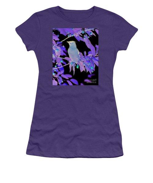 Glowing Cedar Waxwing Women's T-Shirt (Athletic Fit)