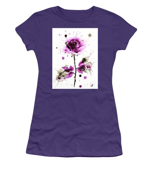 Gold Heart Of The Rose Women's T-Shirt (Athletic Fit)